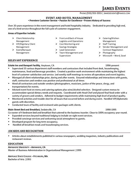 event planner resume sle event planning resume product rental agreement template