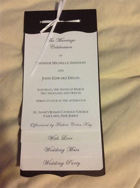 diy programs for weddings