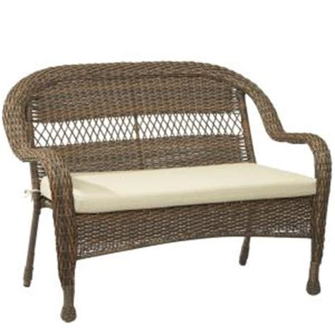 hton bay wicker loveseat hton bay mix and match brown wicker outdoor stack