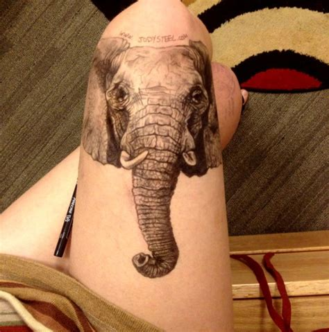 tattoo elephant leg powerful yet cool elephant tattoos