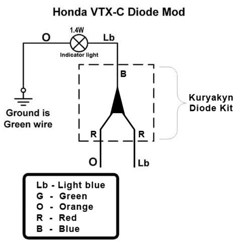 how to wire diodes in series vtx 1800c diode fix 171 bareass choppers motorcycle tech pages
