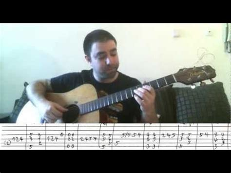 video tutorial fingerstyle tutorial autumn leaves fingerstyle guitar walking