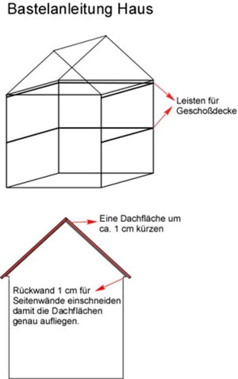 Haus Basteln by Bastelanleitung Haus Aus Holz Puppenhaus Spielhaus