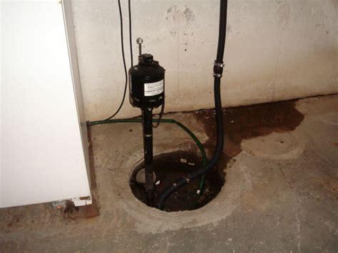 failing sump pump systems sump pump repair for failed
