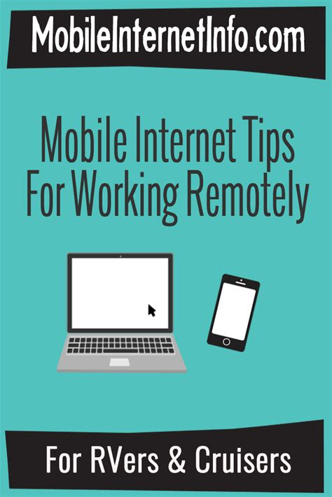 internet for boats working remotely using mobile internet from an rv or boat