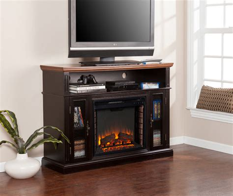 Oxford Fireplace Centre by 48 Quot Oxford Stain Tobacco Media Electric