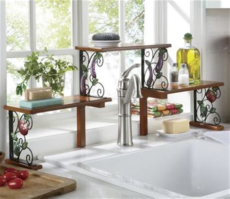 Stainless Steel Vase 2 Tier Garden Bounty Over The Sink Shelf From Seventh
