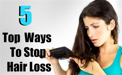 how to stop hair loss 5 methods with top 5 ways to stop hair loss diy health remedy