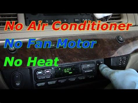 how to fix a no heat problem in a 2006 chevy equinox removing dashboard to replace air blend door how to fix no air conditioner no blower motor no heat youtube