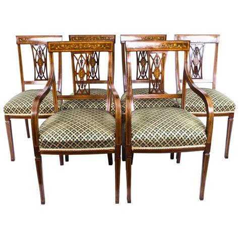Antique Mahogany Dining Room Set by Antique Set Of Six Edwardian Inlaid Mahogany Dining Chairs Circa 1900 At 1stdibs