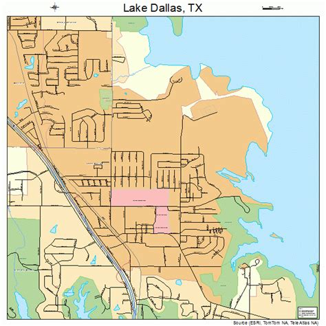 texas lake maps lake dallas texas map 4840516