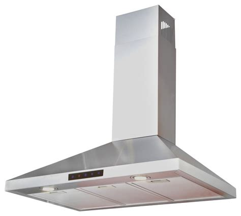 Wall Mount Bathroom Exhaust Fan Stainless Steel Wall Hood 30 Quot Contemporary Range