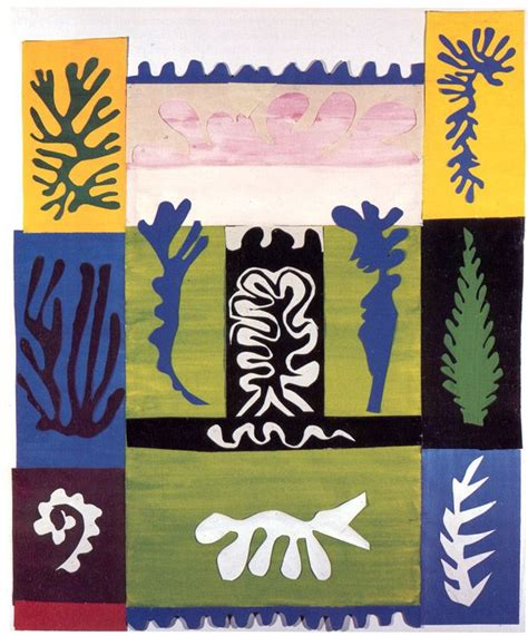 Matisse Decoupage - anfitrite henri matisse guouace on paper cut and pasted