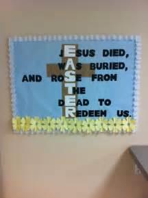 Easter bulletin board church ideas pinterest