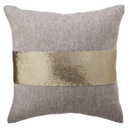 nate berkus target nate berkus for target gold mesh and tweed pillow target
