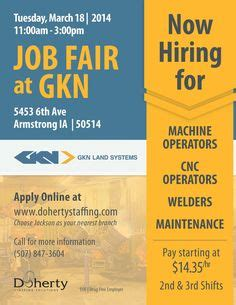 fairs hiring events on warehouses