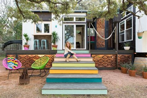 tiny kitchen designed by kim lewis designer kim lewis helps create eclectic tiny house in