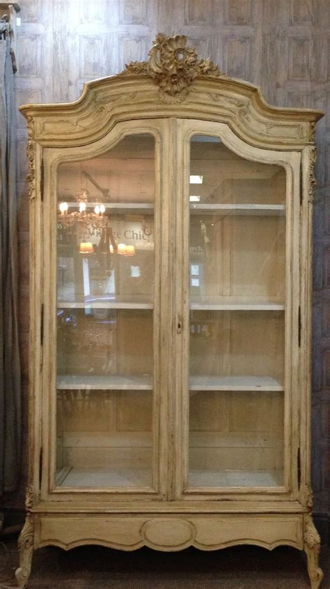 antique painted armoire french antique armoire vitrine painted louis xv