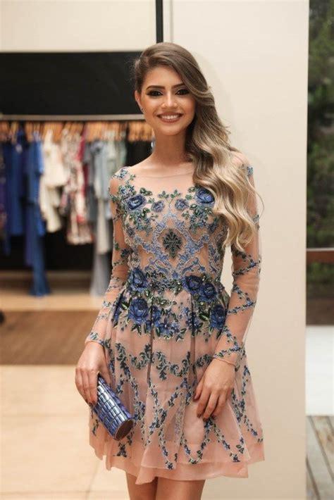 1000 ideas about vestidos festa on pinterest modelos vestidos