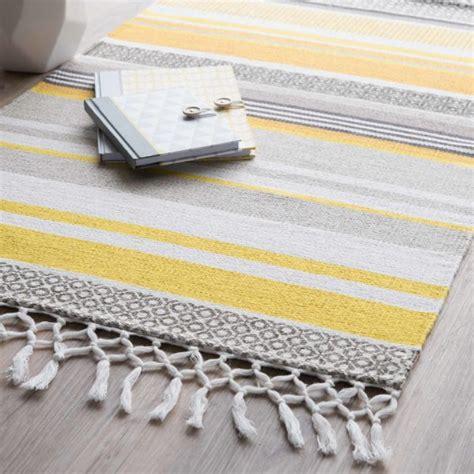 tapis jaune et gris 3583 tapis gris jaune