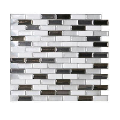 smart tiles murano metallic 10 20 in x 9 10 in mosaic