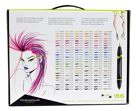 prismacolor marker color chart prismacolor ended brush marker set 156