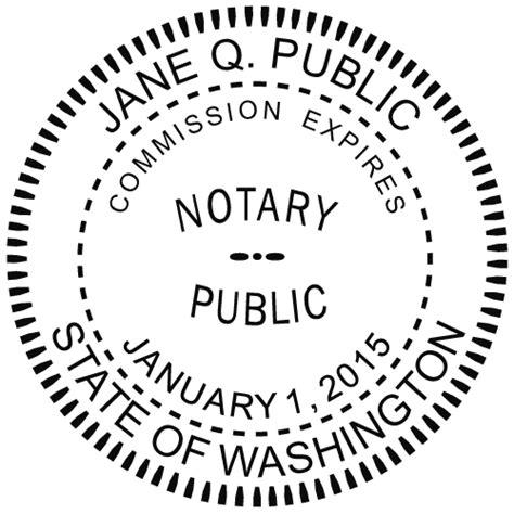 washington notary embosser notary net