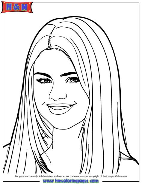 selena gomez printable coloring pages coloring home