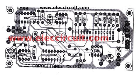capacitor pcb layout digital capacitor meter projects easy to build eleccircuit