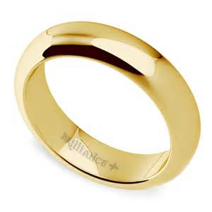 comfort fit s wedding ring in yellow gold 5mm