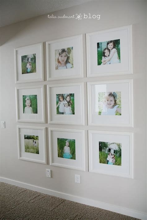 how to hang picture frames without nails 25 best ideas about display family photos on pinterest photo wall displays family picture