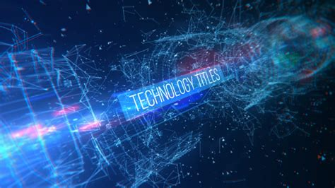 After Effects Technology Template technology titles technology after effects templates