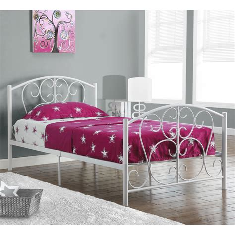 white metal twin bed frame white metal twin bed frame rs floral design metal twin