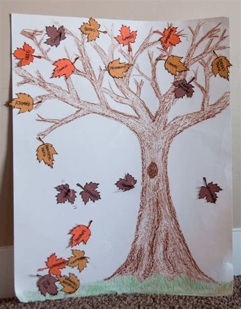thankful tree template thankful projects lesson crafts