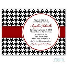 Alabama Wedding Invitations Printed by 1000 Images About Houndstooth Baby Shower On