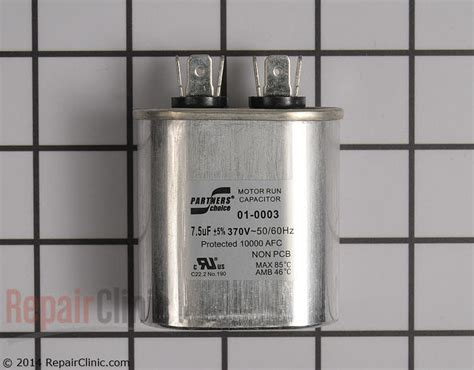 capacitor for a miller ac unit run capacitor 01 0003 repairclinic