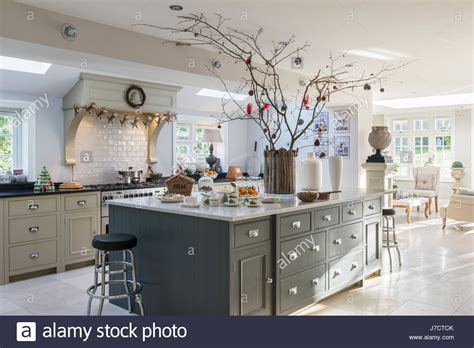 how to decorate your kitchen island spacious kitchen island unit with decorations in 18th stock photo 142268131 alamy
