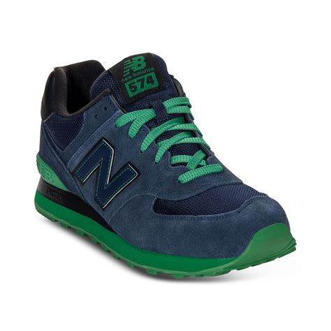 green sneakers for new balance 574 sneakers in blue for navy green lyst