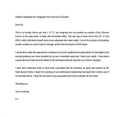 appreciation letter when resigning formal resignation letter 40 free documents in