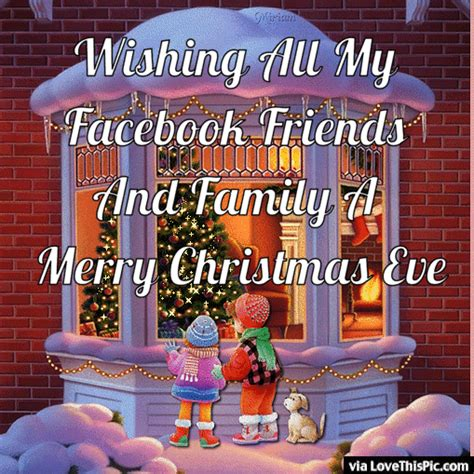 wishing   facebook friends  family  merry christmas eve pictures   images
