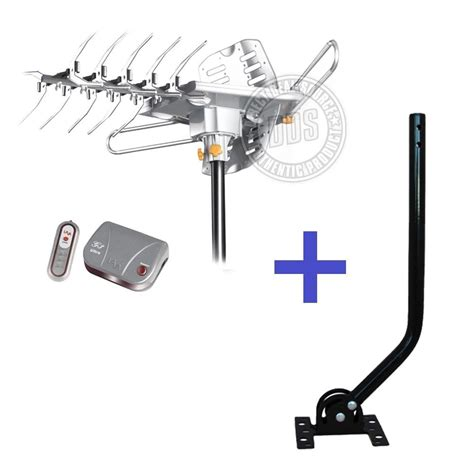 lava hd2605 hdtv rotor lified outdoor tv antenna universal mounting j pole ebay