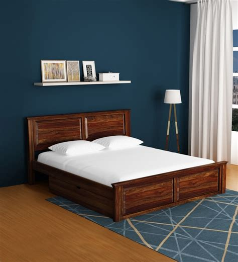 buy stanfield solid wood king size bed  storage