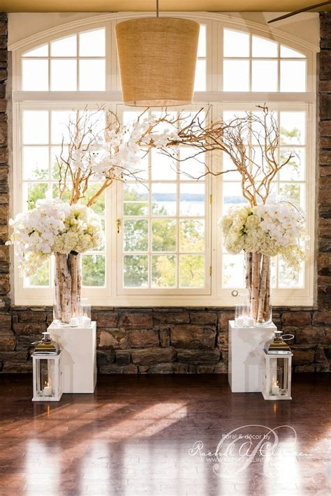 30 chic rustic wedding ideas with tree branches tulle chantilly wedding