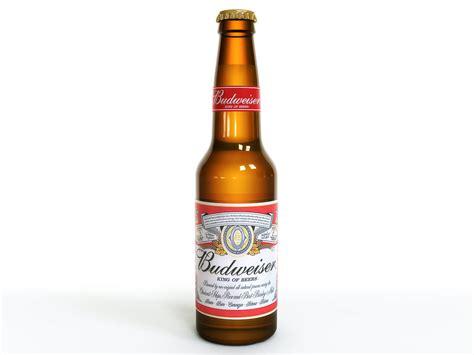 budweiser beer budweiser beer bottle 3d model max obj fbx lwo lw
