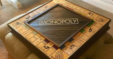 diy wooden games this solid wood monopoly board is hiding an incredible