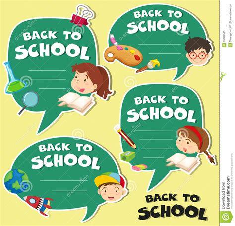 banner design of school back to school banner design stock vector illustration
