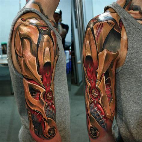 tattoo 3d cyborg cyberpunk by anatckiy on deviantart
