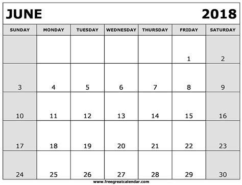 june 2018 printable calendar printable 2017 calendar