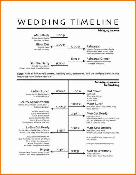 wedding day schedule template 5 wedding day schedule template expense report