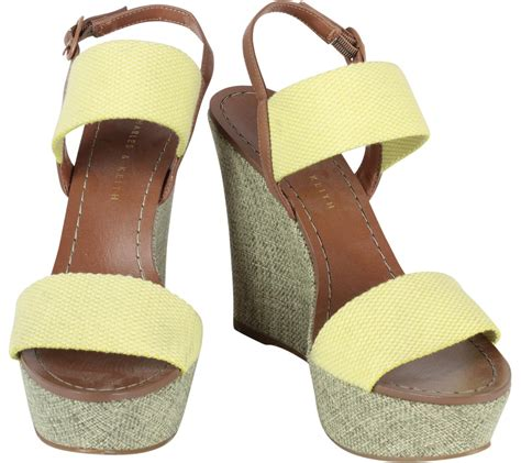 Charles N Keith Wedges charles keith yellow wedges